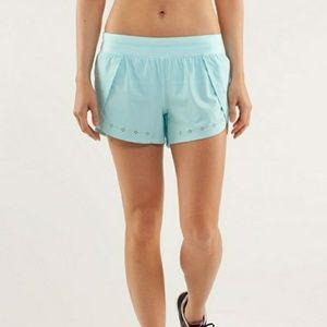 LULULEMON aquamarine breeze by shorts